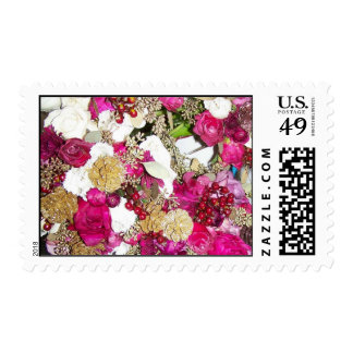 Perfect Roses and Pinecones Postage Stamp