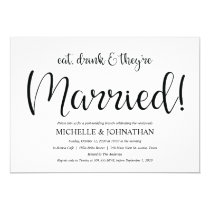 Perfect Rustic Post Wedding Brunch Invites