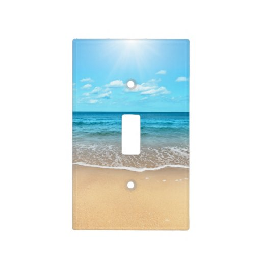 perfect sandy beach light switch covers zazzle
