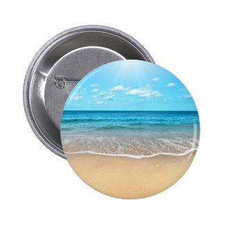 Perfect Sandy Beach Pinback Button