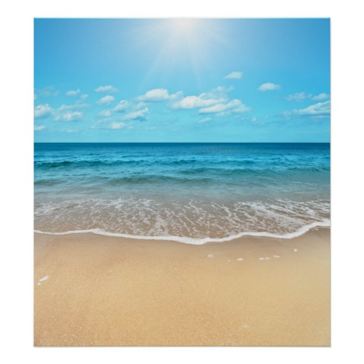 Sandy Beach: Perfect Sandy Beach Poster