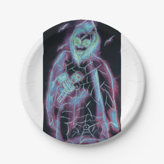 perfect scary skeleton paper plate