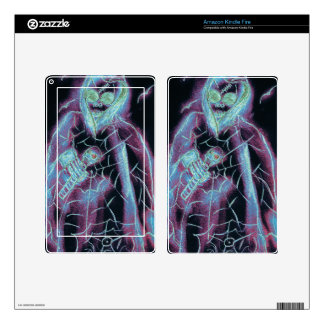 Perfect scary skeleton skin for kindle fire