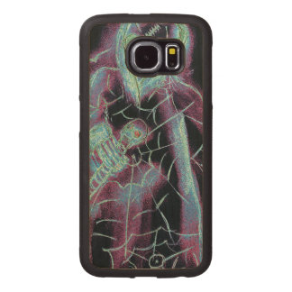 perfect scary skeleton wood phone case