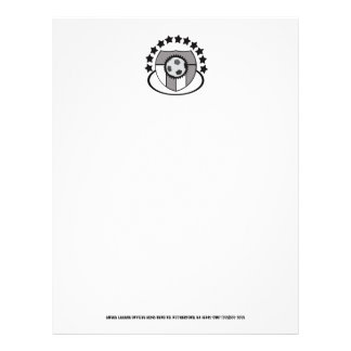 Perfect Simple Soccer Team Stationery Custom -