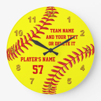 Perfect Softball Senior Night Gifts PERSONALIZED Large Clock