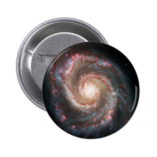 Perfect Spiral Galaxy Eliptical Galaxy Print Space Pinback Button