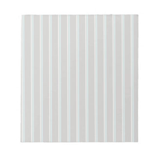 perfect stripes blue brown and creme memo note pad