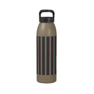 perfect stripes blue brown and creme water bottle