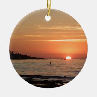 Perfect Sunset Ceramic Ornament