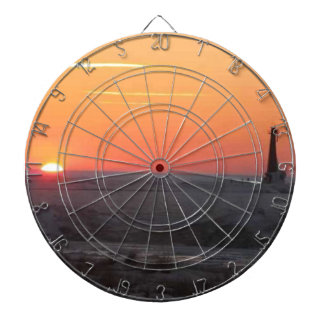 Perfect Sunset Dartboard With Darts