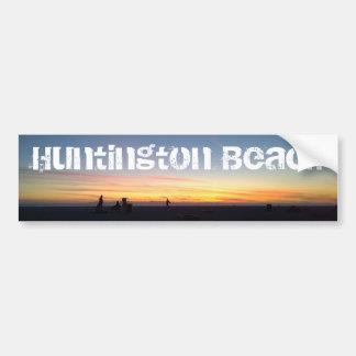 Perfect Sunset in Huntington Beach, California Bumper Sticker