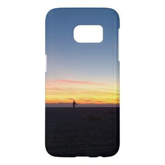 Perfect Sunset in Huntington Beach, California Samsung Galaxy S7 Case