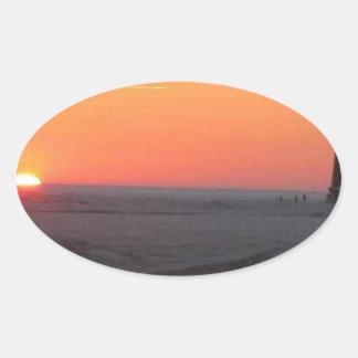Perfect Sunset Oval Sticker