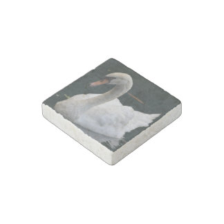 Perfect Swan Stone Magnet