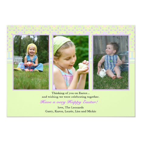 Perfect Three Photo Card