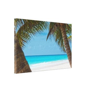 Perfect Tropical Paradise Beach Canvas Print