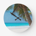 Perfect Tropical Paradise Beach Wall Clocks
