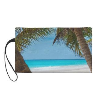 Perfect Tropical Paradise Beach Wristlet Purse