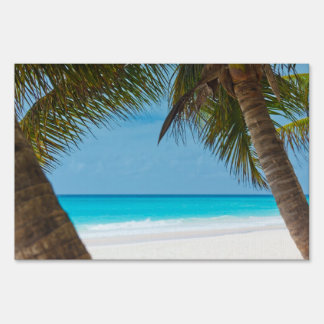 Perfect Tropical Paradise Beach Lawn Sign