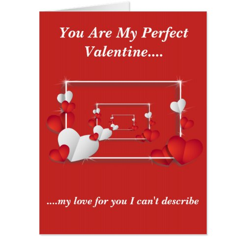 Perfect Valentine Card Oversize