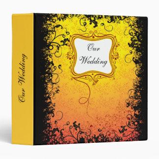 Perfect Valentine - our wedding (yellow black) bin 3 Ring Binder