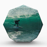 """perfect wave acrylic award<br><div class=""""desc"""">surfer in Bali ,  just about to go into the tunnel</div>"""