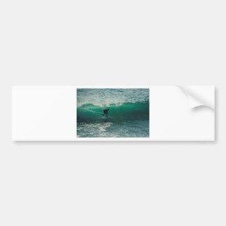 perfect wave bumper sticker