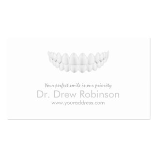 Perfect White Smile Simple White Dentistry Card Business Card