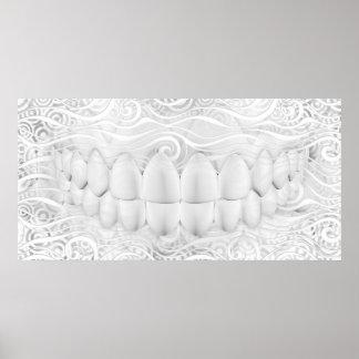 Perfect White Teeth Smile Dentist Poster