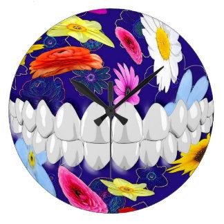 Perfect White Teeth Smile Dentist Wall Clock