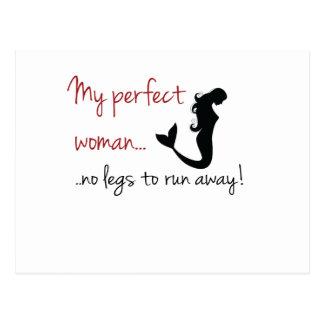 Perfect woman postcard