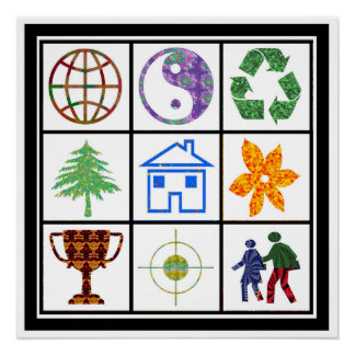 Perfect World Focussed People Environment Friendly Poster