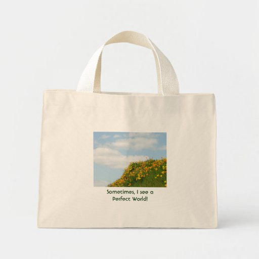 Perfect World tote bags Flower Meadow poppies