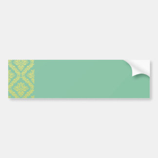 Perfect yellow floral on sea green texture bumper sticker