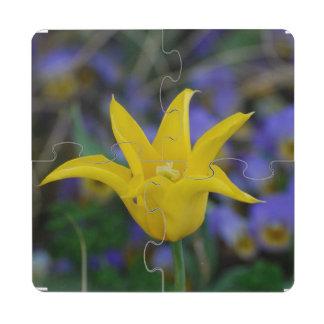 Perfect Yellow Tulip Puzzle Coaster