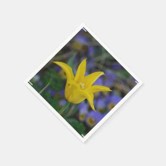 Perfect Yellow Tulip Paper Napkin