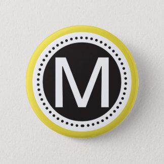 Perfect Yellowd and white Monogram Button