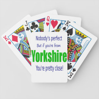Perfect Yorkshire Bicycle Playing Cards