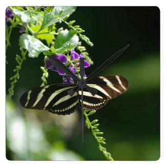 Perfect Zebra Butterfly Clocks