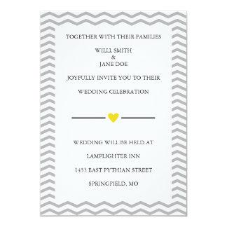 "Perfect Zig Zag Wedding Invitation 5"" X 7"" Invitation Card"