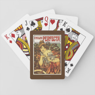 Perfecta Bicycles with Woman Advertisement Poste Playing Cards