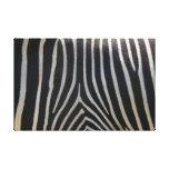 Perfectamente estampado de zebra impresiones en lienzo estiradas