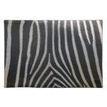 Perfectamente estampado de zebra mantel