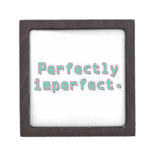 Perfectamente imperfecto cajas de recuerdo de calidad