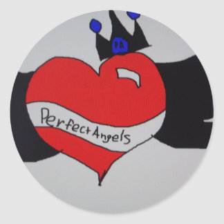 PerfectAngels Pegatina Redonda