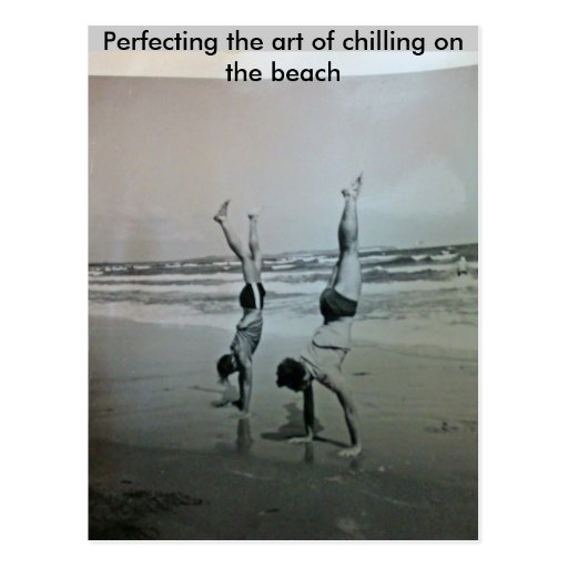 Perfecting the art of chilling on the... postcard