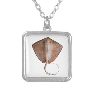 PERFECTION FOR OCEANS SQUARE PENDANT NECKLACE