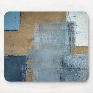'Perfection' Neutral Abstract Art Mouse Pad