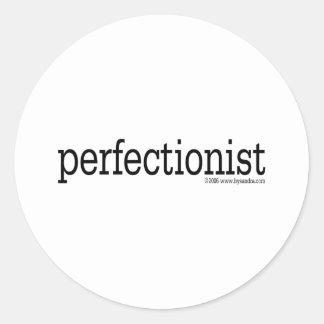 Perfectionist Classic Round Sticker